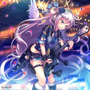 Rating: Safe Score: 46 Tags: cleavage guitar headphones signed wings yamacchi User: RaulDJ747