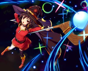 Rating: Safe Score: 60 Tags: bandages dress drogoth heels kono_subarashii_sekai_ni_shukufuku_wo! megumin thighhighs weapon witch User: Mr_GT