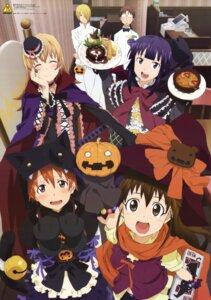 Rating: Safe Score: 40 Tags: dress halloween inami_mahiru sakazaki_tadashi satou_jun takanashi_souta taneshima_poplar todoroki_yachiyo working!! yamada_aoi User: zeroichi