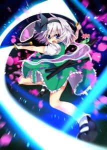 Rating: Safe Score: 16 Tags: konpaku_youmu nekoboshi_sakko sword touhou User: Mr_GT