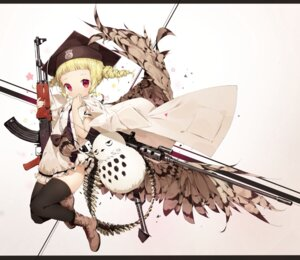 Rating: Safe Score: 33 Tags: dress gun mahou_shoujo_ikusei_keikaku thighhighs User: seshmaru