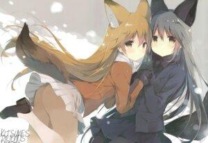 Rating: Questionable Score: 38 Tags: animal_ears ass ezo_red_fox heels kemono_friends kitsune pantyhose shiratama shiratamaco silver_fox tail User: Radioactive