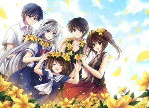Rating: Safe Score: 39 Tags: clannad hagiwara_rin kanako mishima_tomo okazaki_tomoya sakagami_takafumi sakagami_tomoyo seifuku tomoyo_after_~it's_a_wonderful_life~ User: fireattack
