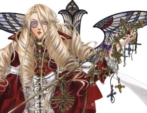 Rating: Safe Score: 9 Tags: caterina_sforza kyuujou_kiyo megane trinity_blood weapon User: Radioactive