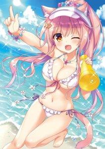 Rating: Questionable Score: 58 Tags: ame_to_yuki animal_ears bikini cleavage macaron_(ame_to_yuki) nekomimi swimsuits tail underboob User: kiyoe