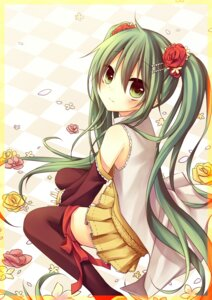 Rating: Safe Score: 38 Tags: amene_kurumi hatsune_miku thighhighs vocaloid User: fairyren