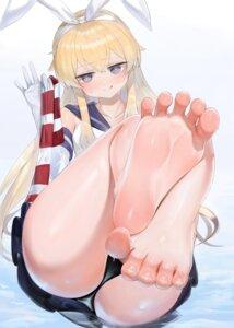 Rating: Questionable Score: 47 Tags: dokomon feet kantai_collection pantsu seifuku shimakaze_(kancolle) skirt_lift thong wet User: popcorn1239
