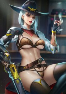 Rating: Safe Score: 33 Tags: ashe_(overwatch) bikini gun nudtawut_thongmai overwatch swimsuits thighhighs underboob User: Mr_GT
