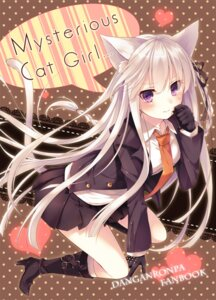 Rating: Safe Score: 50 Tags: animal_ears dangan-ronpa kirigiri_kyouko nekomimi seifuku tail toosaka_asagi User: 椎名深夏