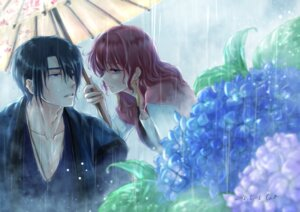 Rating: Safe Score: 10 Tags: akatsuki_no_yona cao hak_son umbrella wet yona User: charunetra