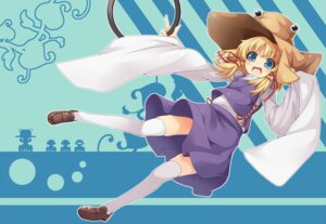 Rating: Safe Score: 12 Tags: hototogisu. moriya_suwako thighhighs touhou User: Mr_GT
