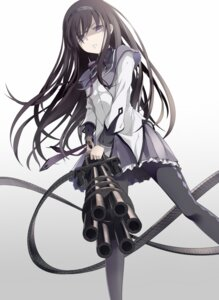 Rating: Safe Score: 42 Tags: akemi_homura gun pantyhose puella_magi_madoka_magica supertie User: Radioactive