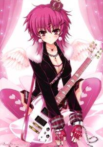 Rating: Safe Score: 35 Tags: cleavage guitar kawamura_hiroki thighhighs User: Kalafina
