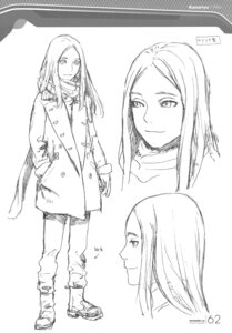 Rating: Safe Score: 9 Tags: character_design kanariya monochrome range_murata shangri-la sketch User: Share