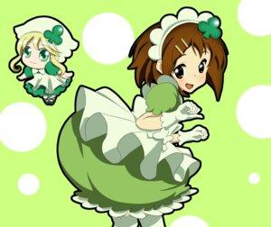 Rating: Safe Score: 11 Tags: amulet_clover crossover dress hirasawa_yui k-on! shugo_chara suu yuukimukku User: Paddypam