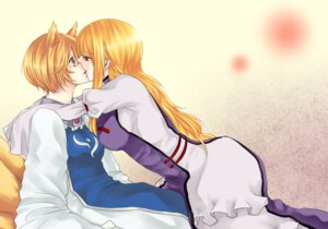 Rating: Safe Score: 5 Tags: animal_ears dokira tail touhou yakumo_ran yakumo_yukari yuri User: Radioactive