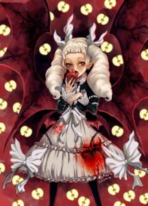 Rating: Safe Score: 10 Tags: blood dress eudetenis gothic_lolita lolita_fashion pointy_ears wings User: Mr_GT
