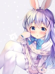 Rating: Safe Score: 60 Tags: animal_ears bunny_ears gochuumon_wa_usagi_desu_ka? kafuu_chino pantyhose rouka User: h2so4cuso4