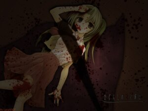 Rating: Safe Score: 30 Tags: blood higurashi_no_naku_koro_ni houjou_yutori sonozaki_mion wallpaper watermark User: boon