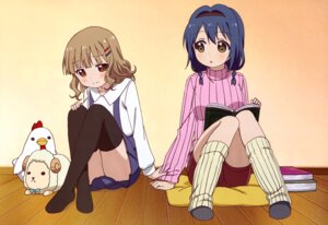 Rating: Safe Score: 45 Tags: furutani_himawari oomuro_sakurako sweater thighhighs yuru_yuri User: drop