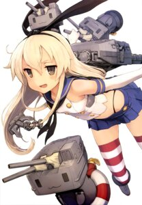 Rating: Questionable Score: 98 Tags: kantai_collection rensouhou-chan shimakaze_(kancolle) shizuma_yoshinori thighhighs User: drop