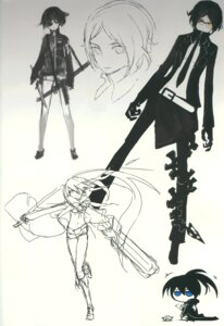Rating: Safe Score: 16 Tags: black_rock_shooter huke no_bra open_shirt sketch vocaloid User: Radioactive