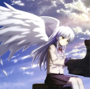 Rating: Safe Score: 41 Tags: angel_beats! paper_texture seifuku tenshi wings User: Ravenblitz