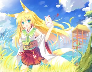 Rating: Safe Score: 35 Tags: animal_ears kitsune miko nibiiro_shizuka tail User: fairyren