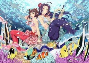 Rating: Safe Score: 30 Tags: amami_haruka bikini_top jpeg_artifacts mermaid miura_azusa the_idolm@ster tsurui User: Mr_GT