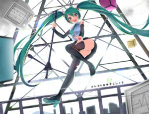 Rating: Safe Score: 25 Tags: hatsune_miku headphones heels tagme tattoo thighhighs vocaloid User: Mr_GT