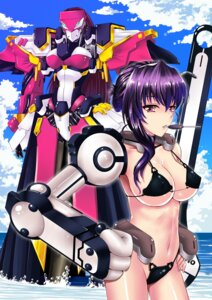 Rating: Questionable Score: 20 Tags: bikini cleavage kyoukai_senjou_no_horizon mecha mecha_musume mizutsuki_rei naomasa swimsuits User: charunetra
