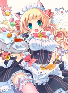 Rating: Questionable Score: 43 Tags: animal_ears maid mamegitsune moe2015 neko nekomimi thighhighs User: KazukiNanako