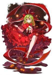 Rating: Safe Score: 18 Tags: dress heels kagiyama_hina skirt_lift touhou vieny User: Mr_GT