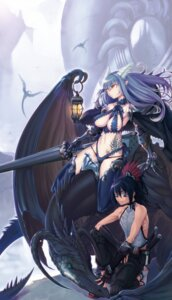 Rating: Safe Score: 50 Tags: ayaki horns thighhighs wings User: charunetra