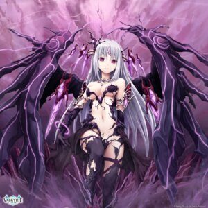 Rating: Questionable Score: 149 Tags: akkijin chaos_(shinkai_no_valkyrie) cleavage devil dress no_bra nopan nubee shinkai_no_valkyrie thighhighs torn_clothes underboob wings User: edogawaconan