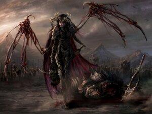 Rating: Questionable Score: 48 Tags: armor blood ishtaris wallpaper wings User: blooregardo
