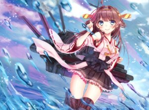 Rating: Safe Score: 46 Tags: japanese_clothes kantai_collection kongou_(kancolle) thighhighs umeko weapon User: mash