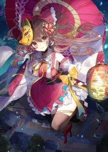 Rating: Safe Score: 40 Tags: garter hakurei_reimu japanese_clothes natsuki_(ukiwakudasai) thighhighs touhou umbrella User: BattlequeenYume