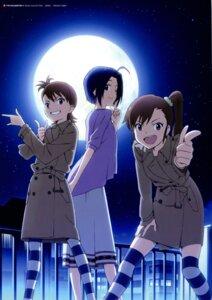 Rating: Safe Score: 27 Tags: futami_ami futami_mami miura_azusa parody sailor_moon takata_akira the_idolm@ster thighhighs User: animeprincess