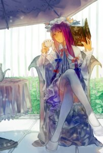 Rating: Safe Score: 31 Tags: dress heels mister_rhino patchouli_knowledge thighhighs touhou User: Mr_GT