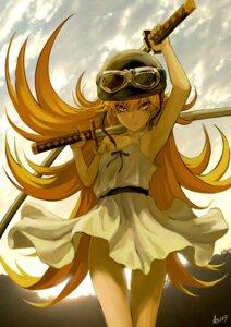 Rating: Questionable Score: 91 Tags: bakemonogatari dress g_scream loli nopan oshino_shinobu sword User: Radioactive