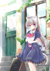 Rating: Safe Score: 26 Tags: animal_ears dress hamikoron nekomimi tail User: hiroimo2