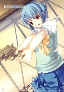 Rating: Safe Score: 18 Tags: gun katagiri_megumi kusari lycée mikazuki_akira seifuku torn_clothes tri-moon! User: midzki