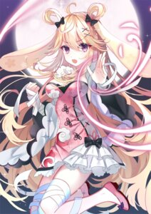 Rating: Safe Score: 26 Tags: akira_(ying) animal_ears asian_clothes bandages bunny_ears cleavage heels User: Mr_GT