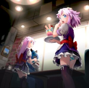 Rating: Questionable Score: 34 Tags: choujigen_game_neptune dogoo nepgear neptune pantsu segamark shimapan thighhighs waitress User: Mr_GT