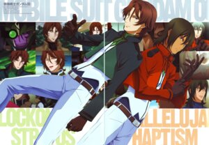Rating: Safe Score: 3 Tags: allelujah_haptism gap gundam gundam_00 lockon_stratos lyle_dylandy male yoneyama_kouhei User: Lua