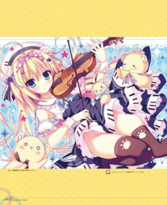 Rating: Questionable Score: 49 Tags: animal_ears dress nopan shiromochi_sakura skirt_lift thighhighs User: Twinsenzw