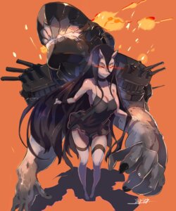 Rating: Safe Score: 43 Tags: battleship-symbiotic_hime bigegg cleavage dress horns kantai_collection User: saikisama