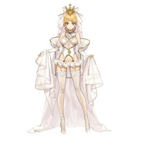Rating: Safe Score: 42 Tags: cleavage dress fate/grand_order heels itoucon lingerie no_bra pantsu saber_bride saber_extra see_through stockings thighhighs wedding_dress User: Mr_GT