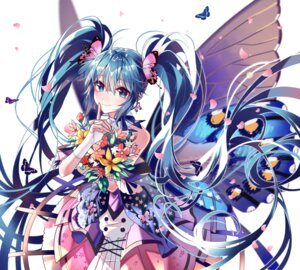 Rating: Safe Score: 26 Tags: akira_(ying) dress hatsune_miku tattoo vocaloid wings User: Dreista